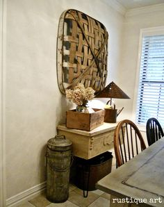 tobacco basket. (I have one of those in my barn! Didn't know what it was. gonna bring it in the house and hang it up!)