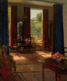 "https://www.facebook.com/MiaFeigelson  ""Sunlight in a London Studio"" By Herbert Davis Richter R.I., R.S.W., R.O.I., R.B.A., R.B.C, from UK (1874 - 1955)  - oil on canvas; 76.2 x 63.5 cm; 30 x 25 in - © Burlington Paintings, Art Gallery, London, UK  http://www.burlington.co.uk/"