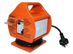 PORTABLE RCD - 10 AMP TO 15 AMP The Powertech caravan adapter with portable RCD is ideal for converting your 15 amp power lead to fit a 10 amp household power outlet. Caravan, Rv Accessories, Power Led, Camping, Household, Brisbane, Fit, Electrical Outlets, Cords