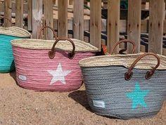 WitZandGrijs | Zook.nl - kleurrijke, leuke, rieten tassen van het spaanse 20 violets