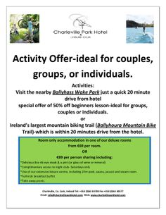 Activity Special Offer!!