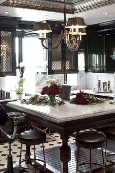 Tommy and Dee Hilfiger's kitchen featured in the August 2010 issue of Harper's BAZAAR.