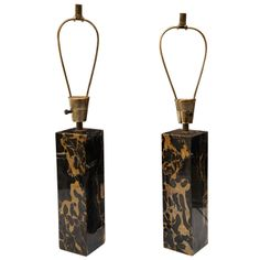 A Pair of Marble Based Table Lamps | From a unique collection of antique and modern table lamps at http://www.1stdibs.com/furniture/lighting/table-lamps/