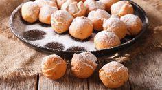 Italian sweetness Castagnole close-up on the table. horizontal, rustic