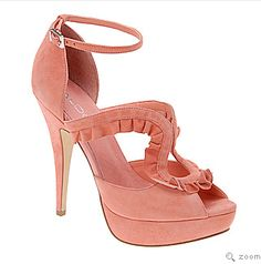Celebrities who wear, use, or own ALDO Starace Platform Sandals. Also discover the movies, TV shows, and events associated with ALDO Starace Platform Sandals. Peach Heels, Hot Pink Heels, Pink Pumps, Suede Pumps, Coral Shoes, Thing 1, Aldo Shoes, Shoes Sandals, Zapatos