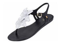 Vegan Shoes & Bags: Solar Garden II Sandal by Melissa in Black/Multi