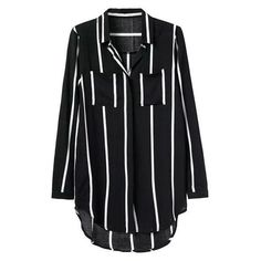 Valerie Stripe Relax Shirt (120 BRL) ❤ liked on Polyvore featuring tops, shirts, dresses, blouses, relax shirt, stripe shirt, striped top, button front tops and relaxed fit shirt