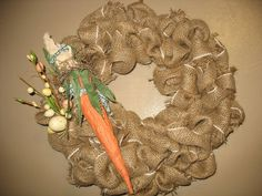 12 handmade Easter wreath made of burlap and by WreathsbyJeanna, $45.00