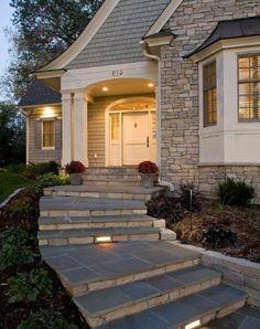 escalier exterieur superbe, suggestion design élégant, ambiance romantique…