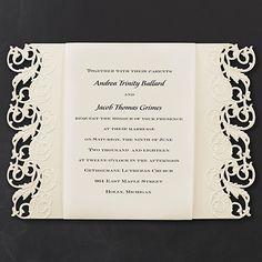 Elegant Edges - Invitation. Available at Persnickety Invitation Studio.