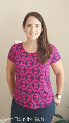 Elaine Ikat Print Pocket-Front Knit Shirt by Market and Spruce August 2015 Stitch Fix -- Sweet Tea in the South