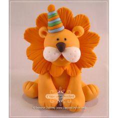 """3"""" Lion Cake Topper"""