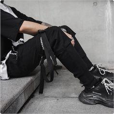 New Hip Hop Joggers Black Harem Cargo Pants - ecofashionova Mens Jogger Pants, Sport Pants, Cargo Pants, Men Pants, Urban Outfits, Casual Outfits, Men Casual, Pantalon Streetwear, Black Harem Pants