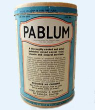 Pablum- the percooked package cereal formula was a lifesaving nutritional breakthrough when Toronto pediatricians developed it in the canada Canadian Things, I Am Canadian, Canadian Food, Canadian History, Canadian Culture, Yellow Cornmeal, Grilling Gifts, O Canada, Sick Kids