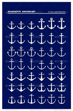 42 Anchor Silhouettes  #GraphicRiver         Set of 42 vector anchor illustrations, each anchor is one path. - Easy to select and edit - Files included: .eps8, .ai CS, .pdf help file. - Edit with Illustrator CS or above, Corel draw, can open with Photoshop. - Outlined title text: Avenir Black , Adobe Gramond Pro – Semi Bold Italic.     Created: 4February13 GraphicsFilesIncluded: VectorEPS #AIIllustrator Layered: Yes MinimumAdobeCSVersion: CS Tags: anchor #anchorsilhouette #anchors #nautical…