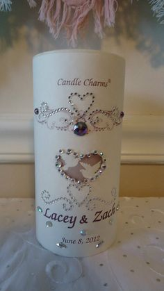 Personalized White Wedding Handfasting 3 x by MagickalCandleCharms, $22.00