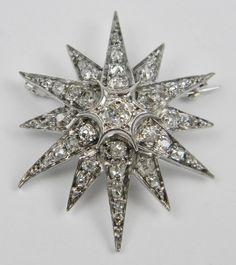 Diamond star brooch twinkling brightly