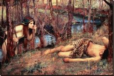 The Naiad , John William Waterhouse, 1893.