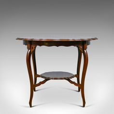 English Antique Lowboy Victorian Side Table Circa 1900 Mahogany