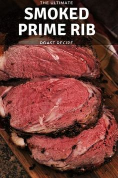 The Ultimate Smoked Prime Rib Recipes Today I'm sharing my favorite recipe ideas for cooking Christmas dinner on the smoker! I've covered everything you need from smoked prime rib and smoked baked potatoes to smoked crab legs in the video below. Traeger Recipes, Smoked Meat Recipes, Rib Recipes, Roast Recipes, Grilling Recipes, Chicken Recipes, Salmon Recipes, Recipes Dinner, Barbecue Recipes