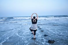 Beautiful yoga, beautiful soul, curvy yoga, Ocean Yoga by Rhys Asplundh, via Flickr