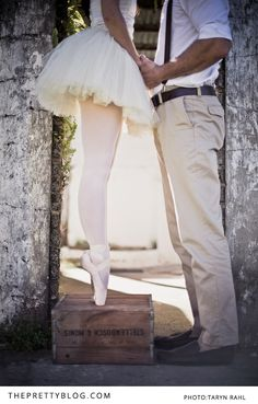 Whoever is crazy enough to marry me, watch out. You will most definitely have to participate in a ballerina engagement photo shoot.