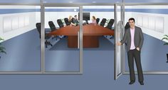 Customized illustration office scene for eLearning with Adobe Captivate, Techsmith Camtasia, and Articulate Storyline.