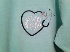Personalized Nurse Doctor Stethoscope Comfort Colors Shirt or Tank Free Monogram