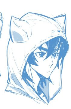 Keith in his Kitty Cat Hoodie from Voltron Legendary Defender