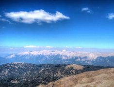 Standing on Mount Tahtali in Kemer, Turkey