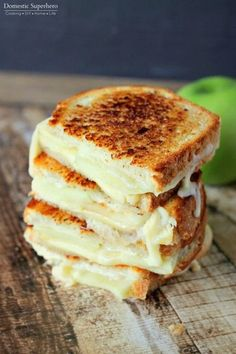 Fresh apples add the right amount of crunch to this ooey-gooey Apple and Gouda Grilled Cheese sandwich.