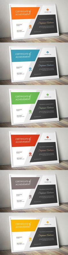 Big bar Word certificate template