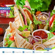 Sandviçlerinize acı katmanın en pratik yolu, Penguen Acı Biber Sosu. :)