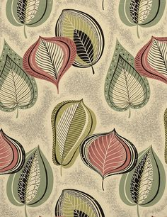 1950s original designs for wallcovering and textiles, via eoh art and design