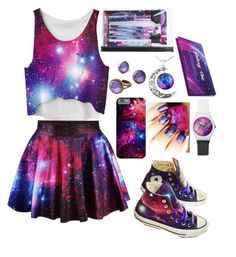 """Galaxy Chic"" by diamondencrusted on Polyvore featuring Converse"