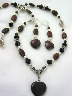 Mahogany Obsidian and Black Obsidian by JazzitUpwithDesigns, $45.00