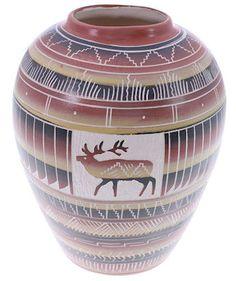 Navajo Elk Pottery by Native American Artist Anderson Joe KS74016 http://www.silvertribe.com