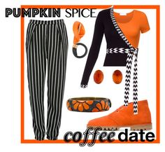 """Pumpkin Spice Coffee Date 1"" by roquinn ❤ liked on Polyvore featuring Glamorous, Carshoe, Diane Von Furstenberg and pss"