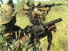 Milkor MGL and assault rifles Military Guns, Military History, New Africa, South Africa, Soldiers Prayer, Battle Tank, Assault Rifle, Ol Days, Warfare
