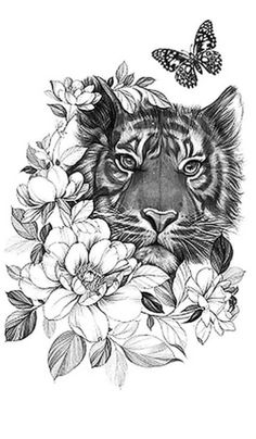 Thigh Piece Tattoos, Leg Tattoos, Body Art Tattoos, Sleeve Tattoos, Tiger Tattoo Small, Tatoo Tiger, Tiger Tattoo Thigh, 4 Tattoo, First Tattoo