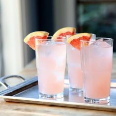 Rosemary Rhubarb Grapefruit Cocktail