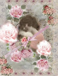 Digital Collage sheet - vintage - Dreams Sheet Thirteen - backgrounds - tags - cards. $3.99, via Etsy.
