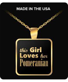Pomeranian - Gold Plated Necklace