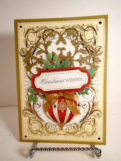 Anna Griffin Christmas card greeting Victorian holiday handmade New!