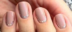 nails with diamond glitter