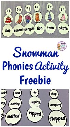 FREE! Try this fun, no prep, winter activity to practice phonics skills.