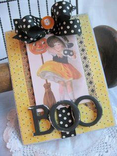 Halloween BOO handmade card