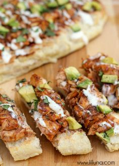 Delicious Barbecue Chicken French Bread - great for any party!