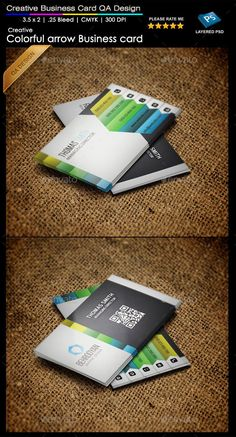 Colorful Arrow Business Card Template #design #print Download: http://graphicriver.net/item/colorful-arrow-business-card/11876899?ref=ksioks