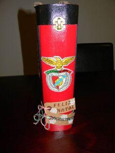 Thème Benfica (foot)  Motifs reproduits au carbone et peint à la main